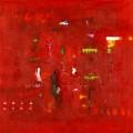 ohne Titel, Acrylfarbe und Kreide auf Hartfaserplatte (80x80), ©2012