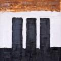 """""""Drei schwarze Blöcke"""", Acryl auf Leinwand (40x30), ©2013"""